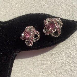 Jewelry - 💜3/30 Dainty Crystal Knot Earrings